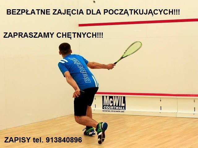 Bezpłatne zajęcia squasha dla poczatkujących!!!